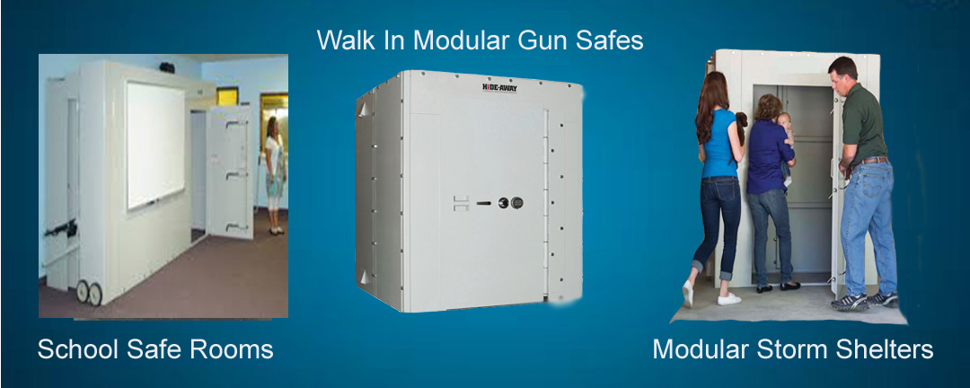 Safe rooms storm shelters gun safes 3in1 for Walk in gun vault room