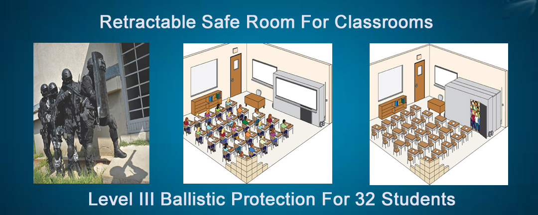 Retractable Safe Room for Classrooms